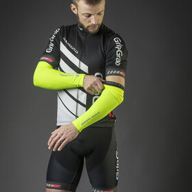 GripGrab Classic Hi-Vis Arm Warmers Fluo Yellow